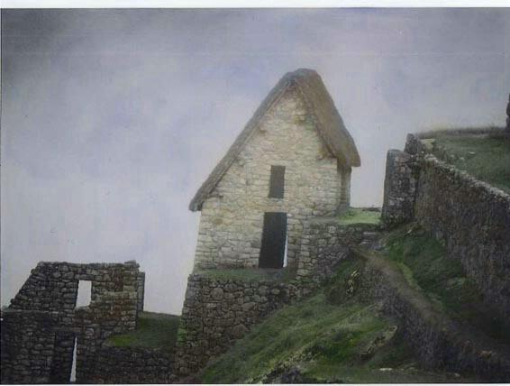 Machu Picchu guard house.