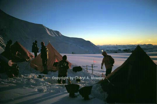 Sunset @snow camp, 18,000,' Nepal - ID: 355841 © Cheryl  A. Moseley