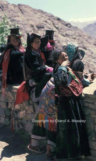 Ladakhi women @ wall - ID: 355853 © Cheryl  A. Moseley