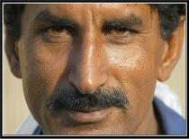 Pakistani worker at Fish market