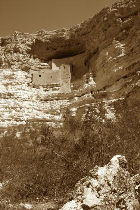 Montezuma's Castle Sepia - ID: 380913 © Jacqueline Stoken