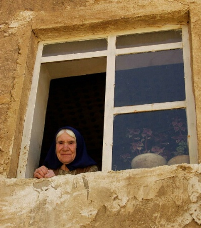 Old woman on village