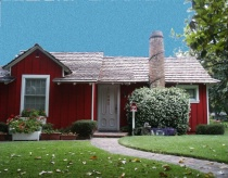 Little Red House - after