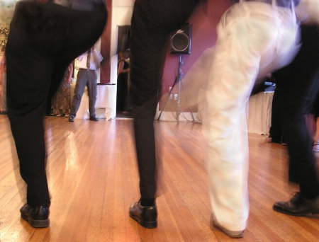 Doing the Macho Man dance