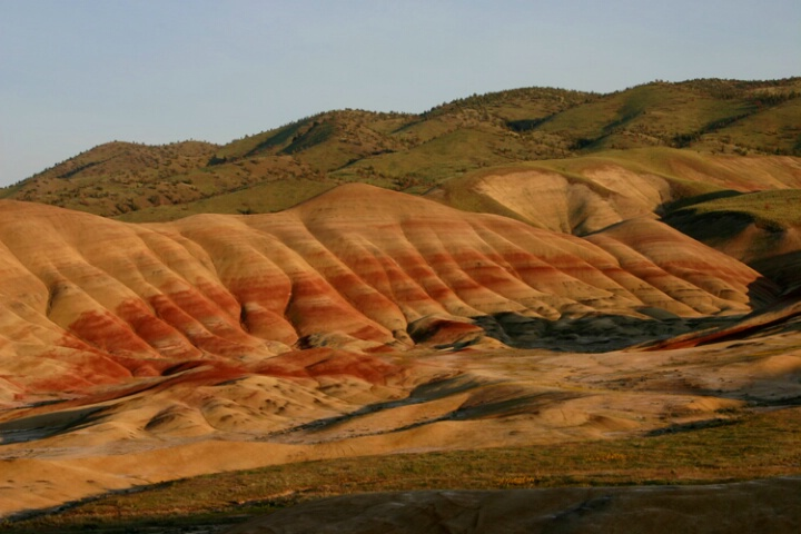 Painted hill at sunset