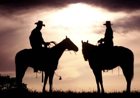 Sundown at the ranch