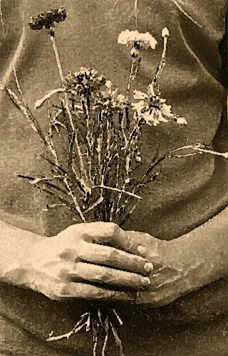 flowers in hand a