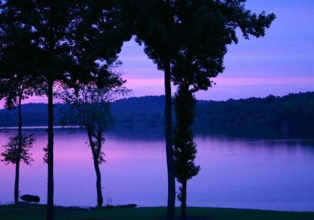 Sunset At Lick Creek
