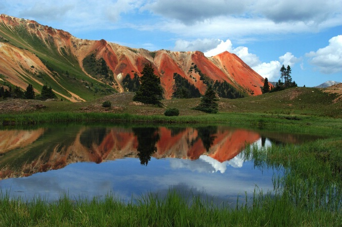 Red Mtn Colorado reflection