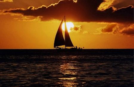 Sailboat at Sunset <br><b>©  Jeff Grabert</b>