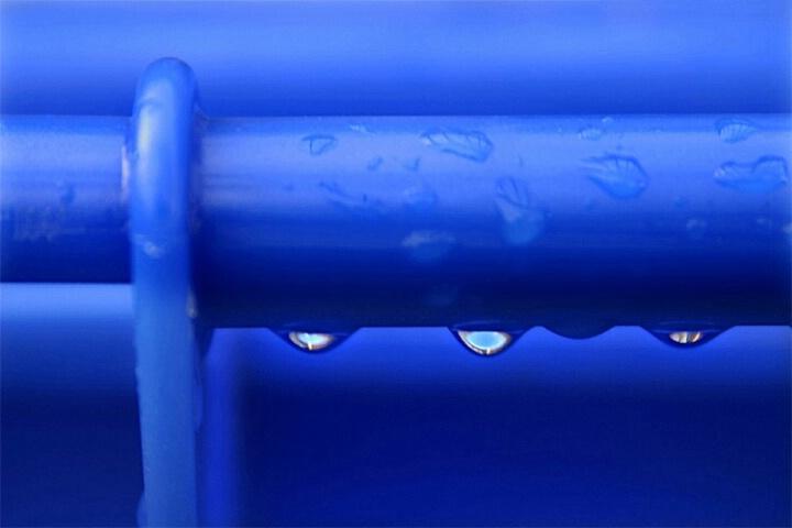 Blue drops...