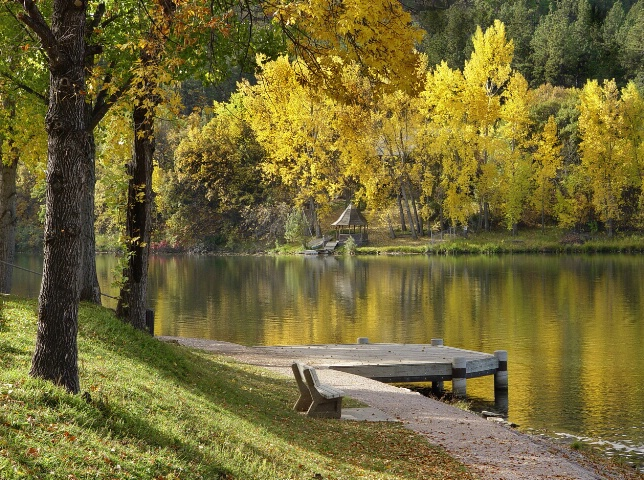 Fall In The Park - Gazebo
