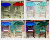 Umbrellas and Chairs