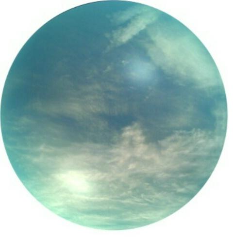 broken clouds in bubble