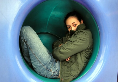 Vivian in a Tunnel =)