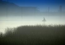 Misty Bridge Blue Morning