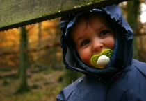 Boy in the woods
