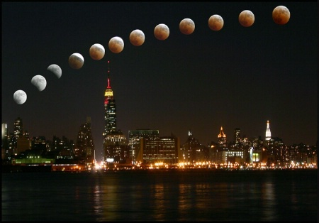 Eclipse over New York