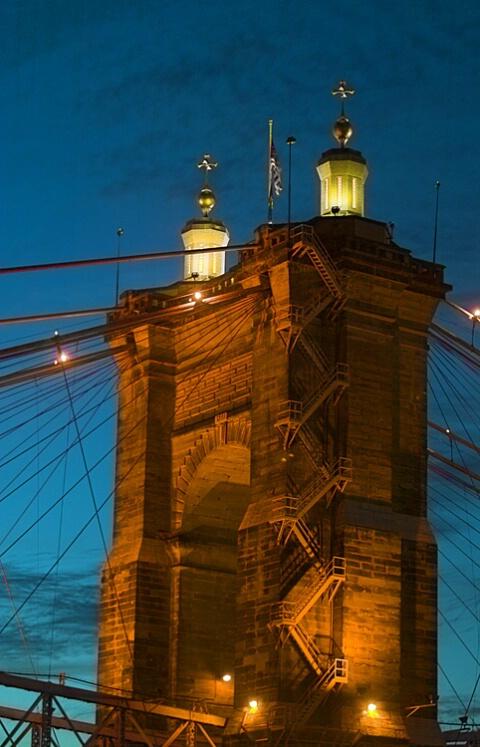 Cincy Suspension Bridge Tower