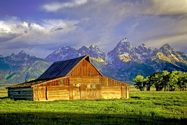 Barn and Grand Tetons