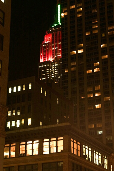 Empire State Building in Christmas Colors - ID: 654738 © Virginia Ross