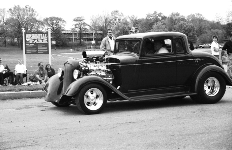 Pottstown Car Show # 11 (B&W)