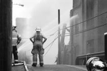 Pottstown Warehouse Fire # 5 (B&W)