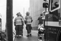 Pottstown Warehouse Fire # 6 (B&W)