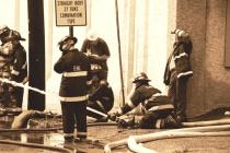 Pottstown Warehouse Fire # 10(B&W)