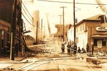 Pottstown Warehouse Fire # 11 (B&W)