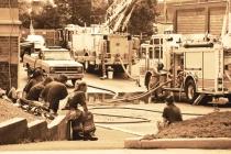 Pottstown Warehouse Fire  #12 (B&W)