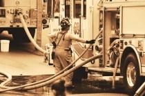 Pottstown Warehouse Fire #13 (B&W)