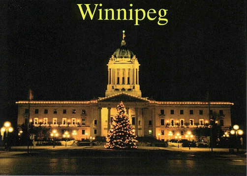 Winnipeg Legislative Building night - ID: 665254 © Heather Robertson
