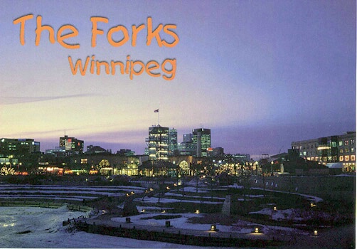 Winnipeg Forks at night - ID: 665270 © Heather Robertson