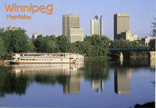 Winnipeg skyline and paddlewheel - ID: 665279 © Heather Robertson