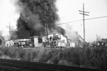 Pace Warehouse Fire # 1 (B&W)