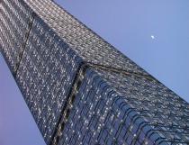 A Skyscraper and The Moon