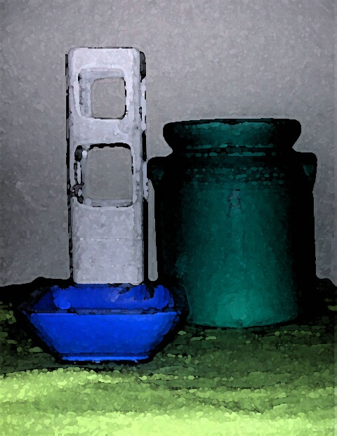 Composicion azul