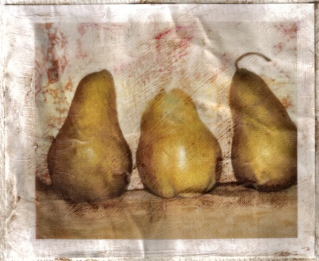 Antiqued Pears - Omni Gel Transfer
