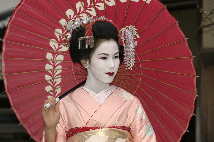 Kyoto Visitor Dressed as a Maiko