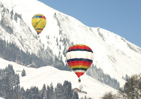 Ballooning in the Alps