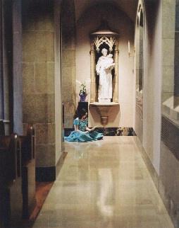 Girl at Catholic Church
