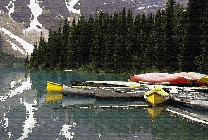 Boats on a lake - ID: 749999 © ashley nicholas