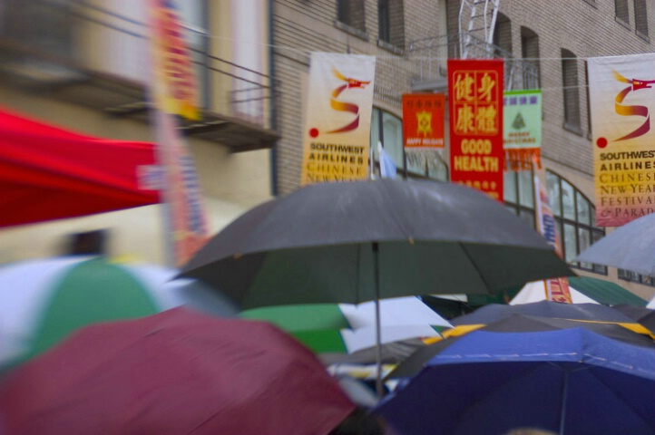 Umbrellas Marching