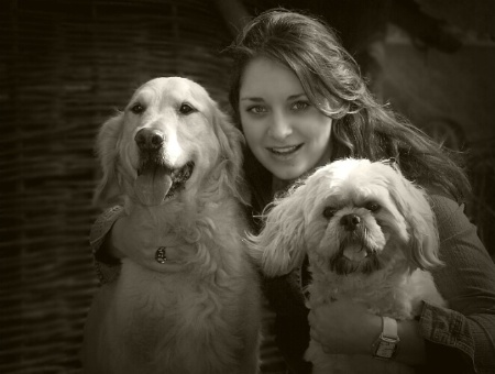 Linda and her two lovely dogs