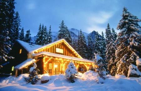 Cabin at Christmas