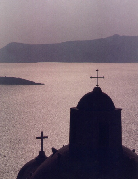 Santorini Silhouette