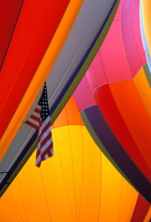 Flag and Balloons