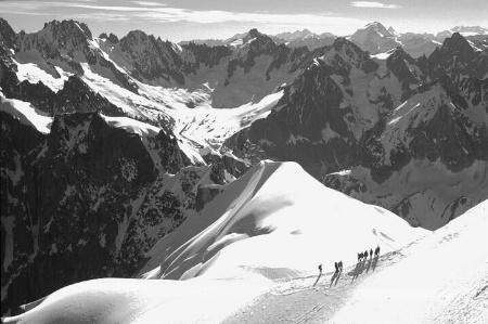 Climbers, Aigulle Du Midi,  French Alps