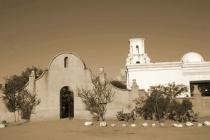 Mission San Xavier Sepia